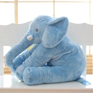Peluche éléphant oreiller bleue Peluche Éléphant Peluche Animaux 87aa0330980ddad2f9e66f: 40cm|60cm|80cm