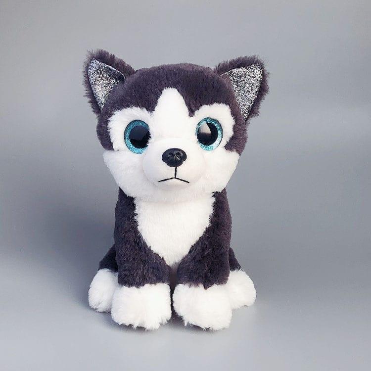 Peluche chien husky noir Peluche Chien Peluche Animaux Tranche d'âge: > 3 ans
