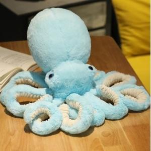 Peluche pieuvre bleue claire trop mignonne Peluche Pieuvre Peluche Animaux 87aa0330980ddad2f9e66f: 30cm 45cm 65cm 90cm