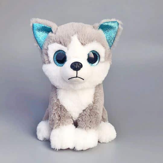 Peluche chien husky gris Peluche Chien Peluche Animaux Tranche d'âge: > 3 ans