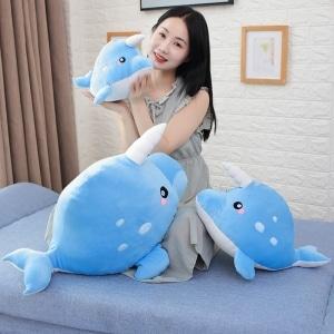 Peluche baleine licorne bleu ciel Peluche Baleine Peluche Animaux Matériaux: Coton