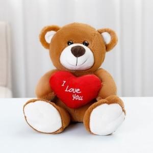 Peluche ours brun amour Peluche Saint-Valentin 87aa0330980ddad2f9e66f: 33cm