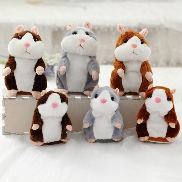 Peluche Hamster gris parlant Peluche Loutre Peluche Animaux Matériau: Coton