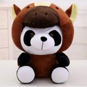 Peluche panda déguisé en cheval Peluche Panda Peluche Animaux 87aa0330980ddad2f9e66f: 20cm|40cm