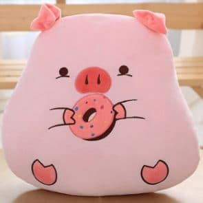 Peluche cochon gourmand donut Peluche Cochon Peluche Animaux Matériaux: Coton