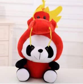 Peluche panda déguisé en dragon Peluche Panda Peluche Animaux 87aa0330980ddad2f9e66f: 20cm|40cm