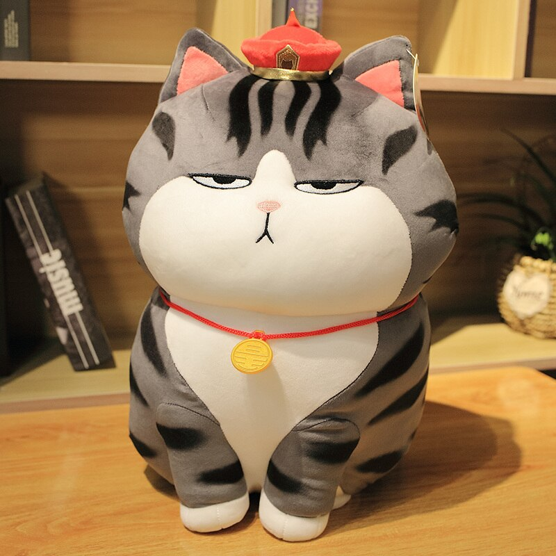 Peluche chat empereur tigré gris Peluche Chat Peluche Animaux Matériaux: Coton