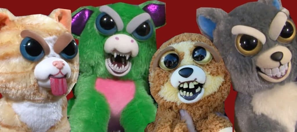 Des peluches effrayantes feisty pets