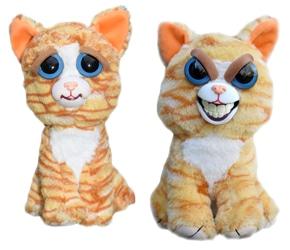 Peluche chat au sourire diabolique