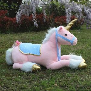 Grande peluche licorne cheval blanc Peluche Cheval Matériaux: Coton