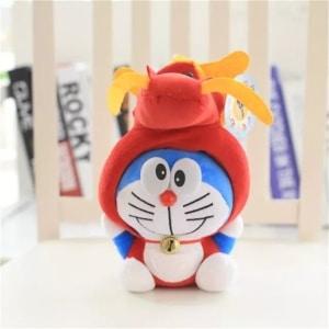 Peluche Doraemon déguisée en dragon Peluche Animaux Peluche Chat Matériaux: Coton