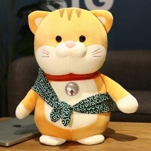Peluche chat avec écharpe tout mignon Peluche Animaux Peluche Chat Matériaux: Coton