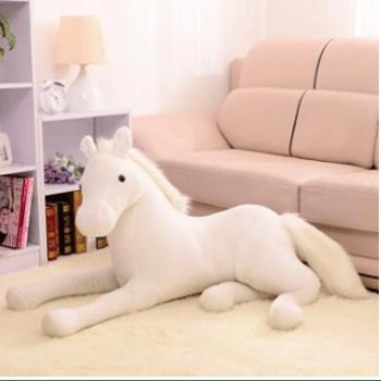 Peluche cheval blanc Peluche Cheval Matériaux: Coton