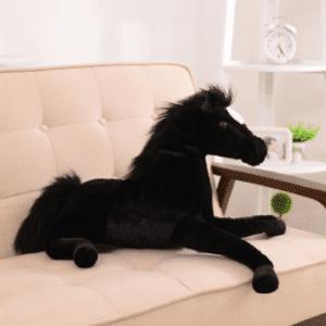 Peluche cheval noir Peluche Cheval Matériaux: Coton