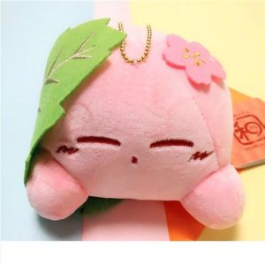 Petite peluche Kirby dans feuille verte Peluche Jeu Vidéo Peluche Kirby Matériau: Coton