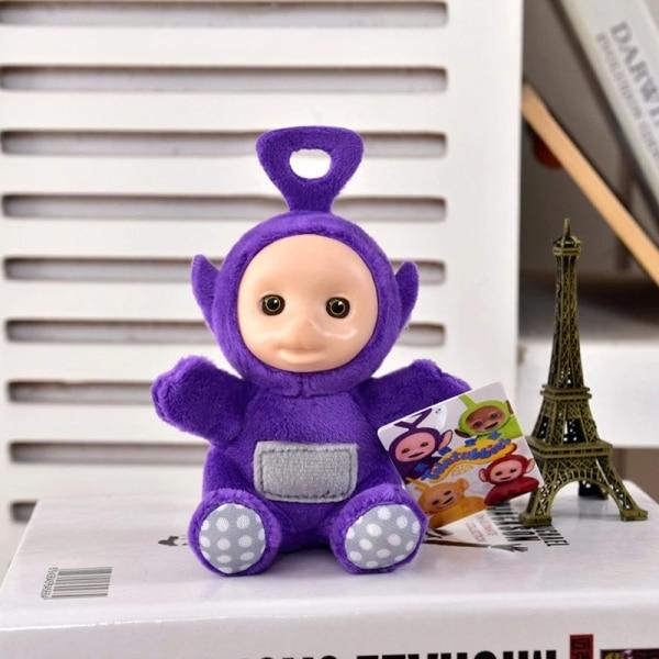 Petite peluche Teletubbies pendentif pour bébé Peluche Télétubbies Peluche Animaux Couleur: Violet
